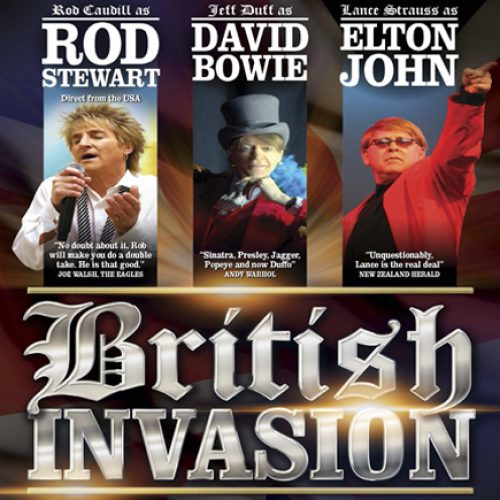 Hear the Hits of Bowie, Elton John, and Rod Stewart at British Invasion!